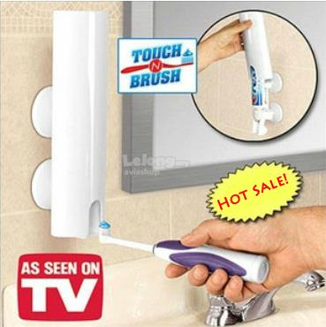 Touch N Brush Automatic Toothpaste Dispenser Hand Free Bathroom Holder