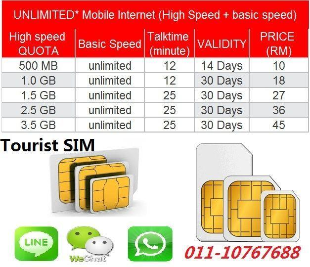 tourist prepaid mobile internet SIM card for tourist
