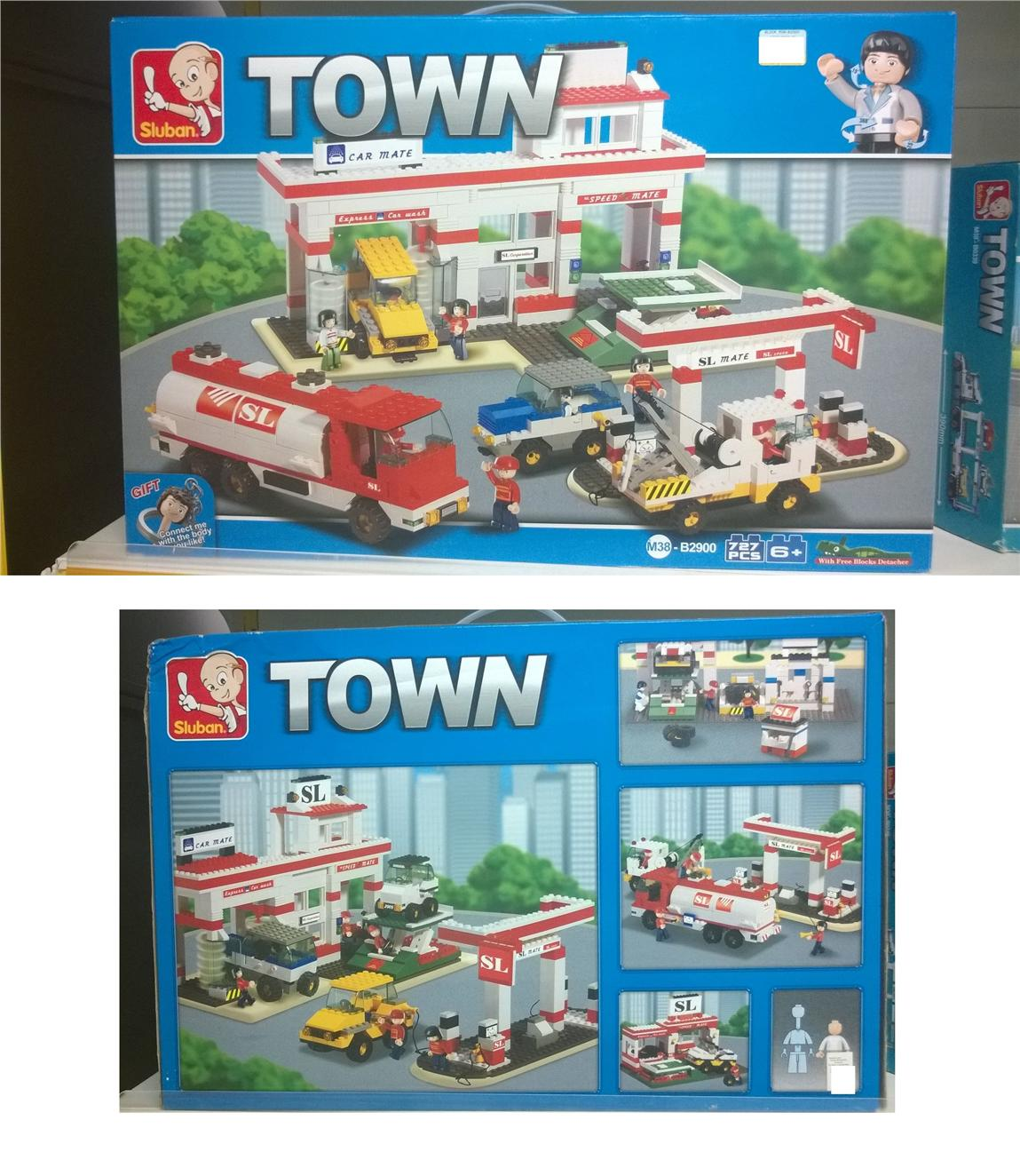 Toy Child Education Town Car Garrage Lego (Mainan Kanak)