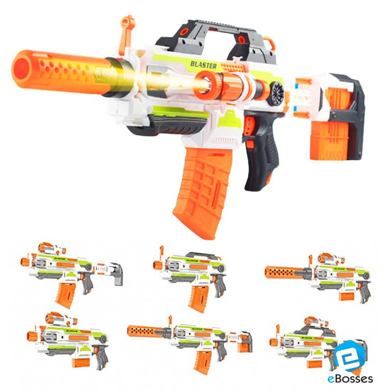 New Toy Machine Gun with Changeable Muzzles for Kids Chrismas Present