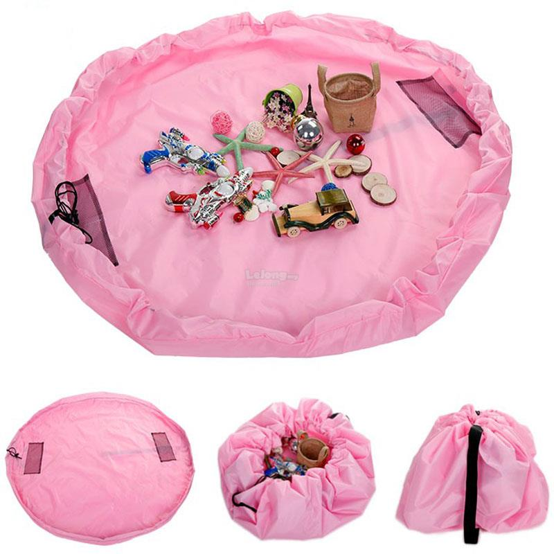 Toy Storage Bag for EASY Clean Up (Pink)