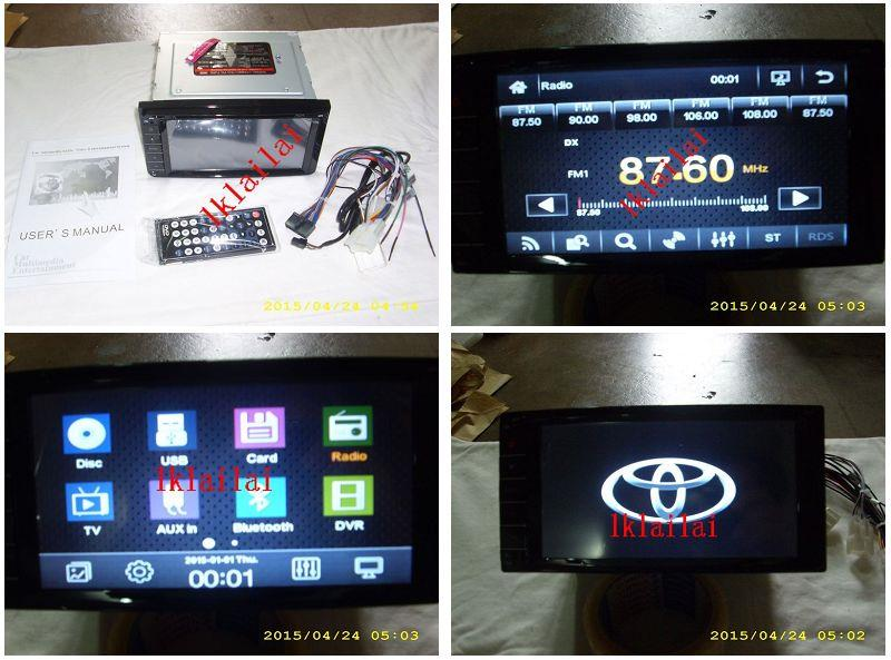 Toyota 7 inch OEM DVD/VCD/CD/MP3/USB Player Full hd screen [6915]