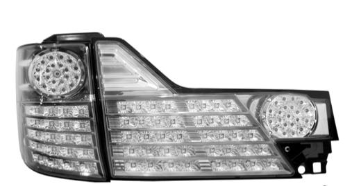 TOYOTA ALPHARD 02-04 EAGLE EYES Chrome Black LED Tail Lamp [TL-129-1]