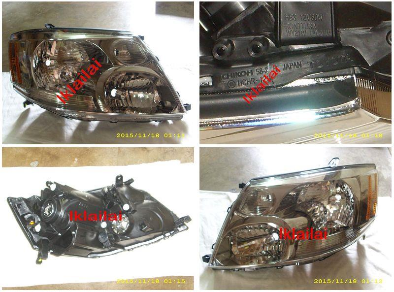Toyota Alphard  '02-05 Crystal Head Lamp 1-pair [Option add DRL]