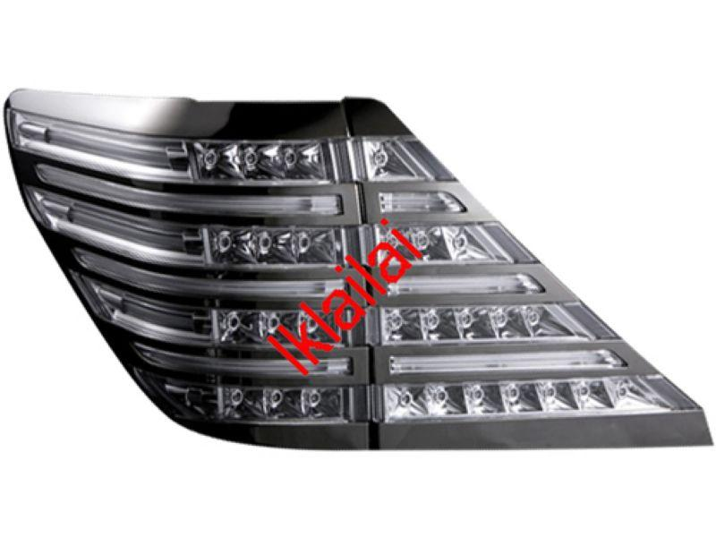 Toyota Alphard `08 ANH-20 Tail Lamp Crystal LED+Light Bar W/Black Chro