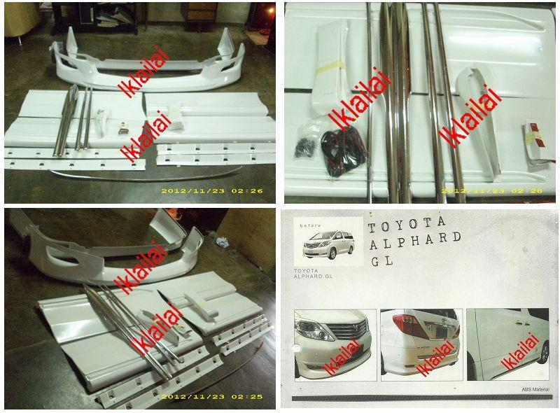 Toyota Alphard '09-12 GL Modellista Full Set Body Kit ABS With Chrome