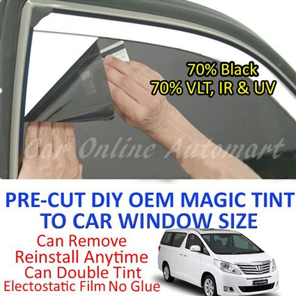 Toyota Alphard 2003 - Present Magic Tinted Solar Window ( 6 Windows )