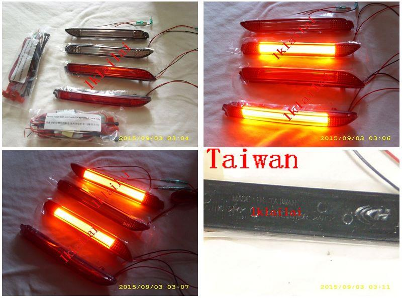 Toyota Alphard Estima Camry Wish LED Light Bar Rear Bumper Reflector