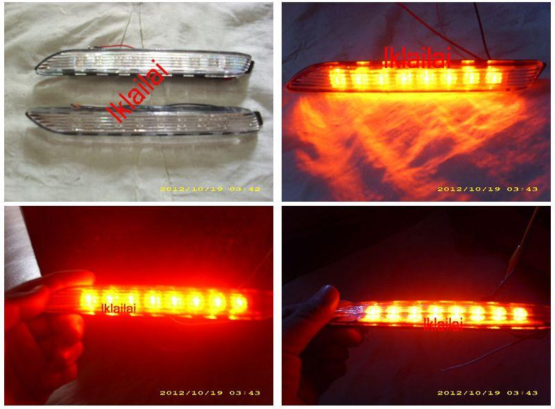 Toyota Alphard Estima Camry Wish LED Rear Bumper Reflector [2-Function