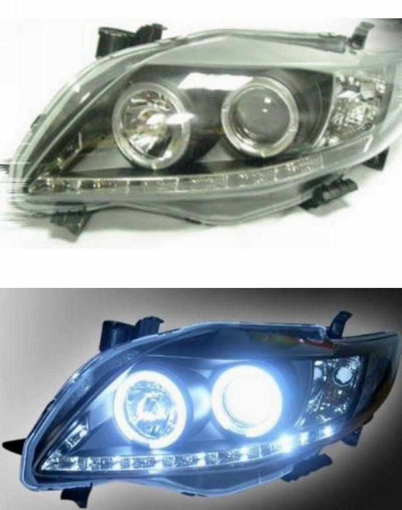 TOYOTA ALTIS '08-09 Projector Head Lamp LED Ring + DRL