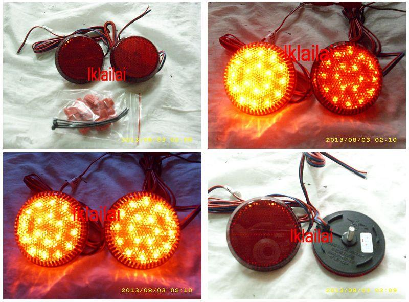 Toyota Altis '08 Rear Bumper LED Reflector Lamp+Brake Light [Red Lens]