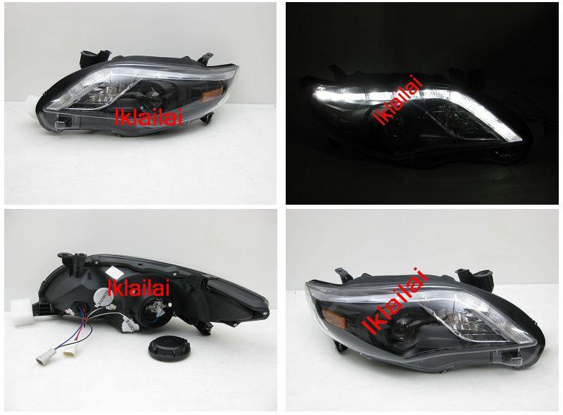 TOYOTA ALTIS '10-12 Projector Head Lamp LED DRL Eye Brown