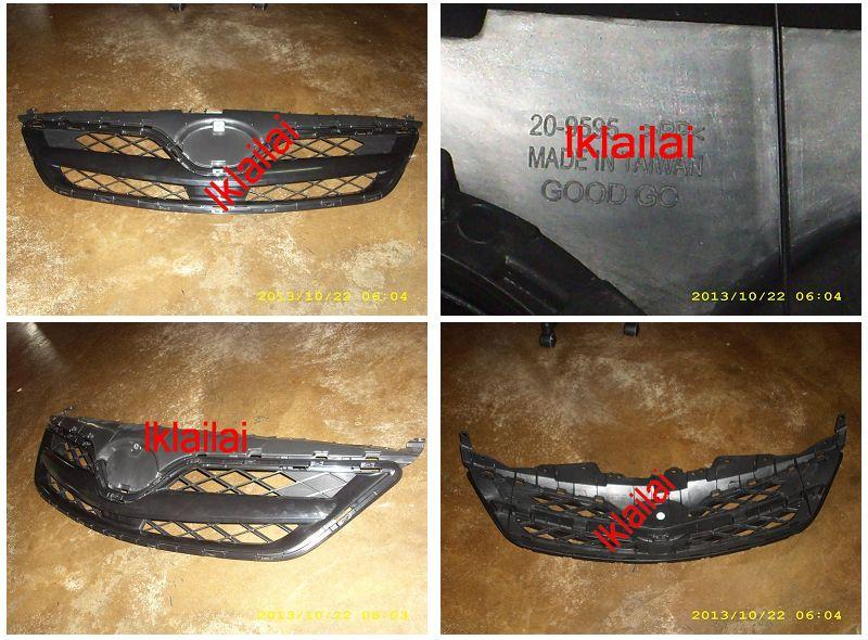 Toyota Altis '11 Front Grille Black Sport Type PP Material