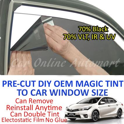 Toyota Altis 2002 - Present Magic Tinted Solar Window ( 4 Windows & Re