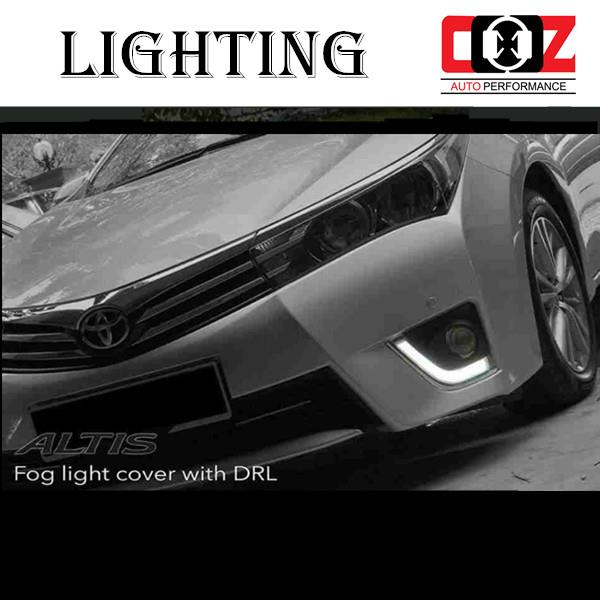 TOYOTA ALTIS 2014-2015  Fog Lamp Cover With LED Daylight DRL + Auto On