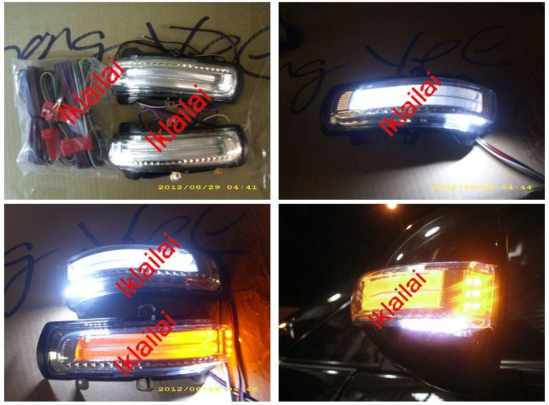 TOYOTA ALTIS/WISH/CAMRY LED Signal For Door Mirror Cover [3-Function]