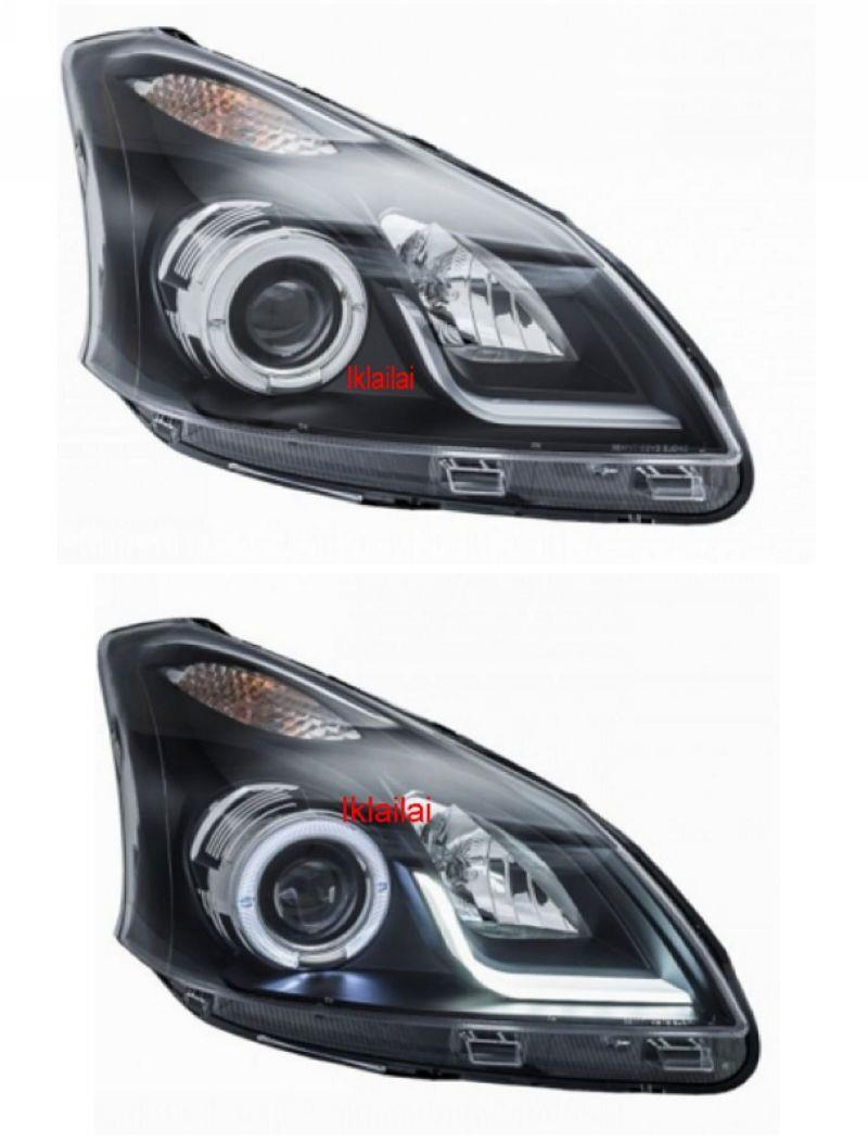 Toyota Avanza '13 LED Ring Projector Head Lamp LED DRL R8