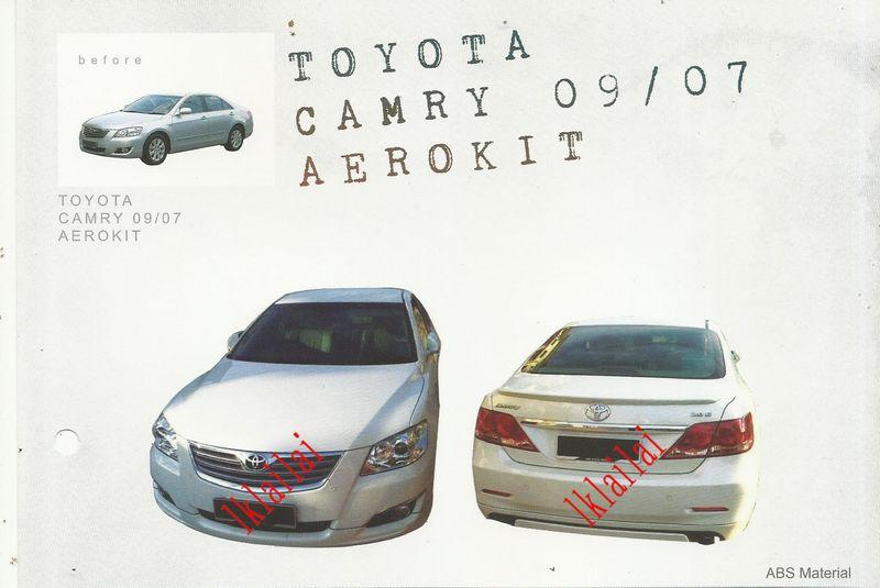 Toyota Camry '07-08/ '09-12 OEM Full Set Body kit ABS Skirting Spoiler