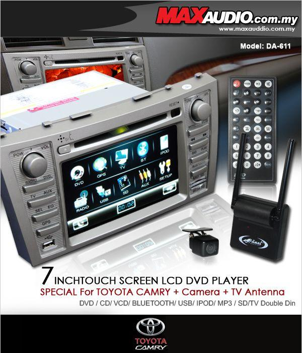 TOYOTA CAMRY 07 DLAA DA-611 7' DVD/USB/SD + Camera + TV Booster