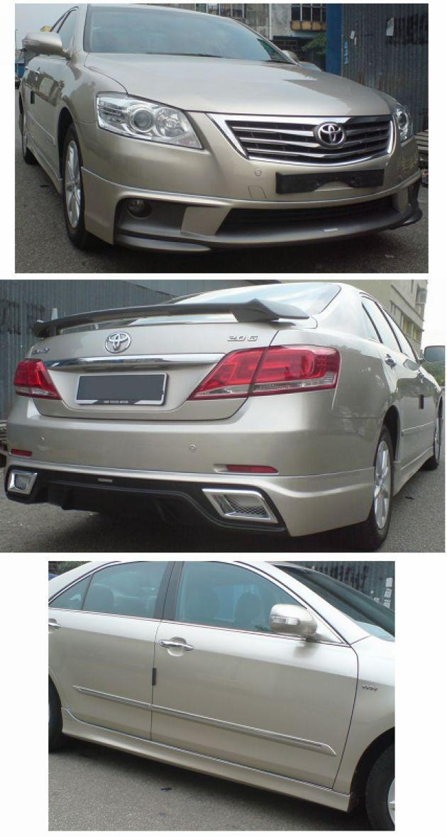 Toyota Camry '09-11 Body Kit Sportivo Style Painted Full Set Skirting
