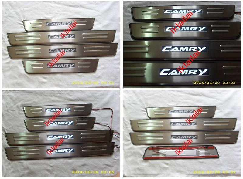 Toyota Camry '09-11 Door / Side Sill Plate With LED Light [4pcs/set]