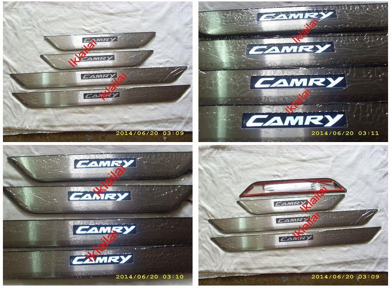 Toyota Camry '12 Door / Side Sill Plate With LED Light [4pcs/set]