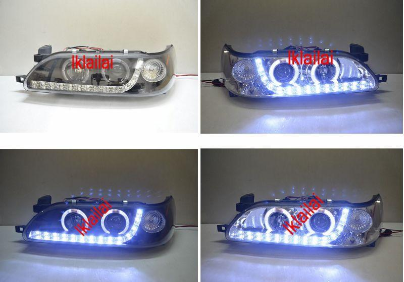Toyota Corolla AE101 '93 Projector LED Head Lamp DRL R8 Chrome/Black