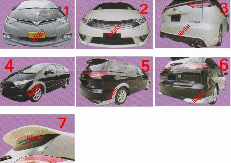 Toyota Estima '06 ACR50 Body Kit [Front / Rear Bumper/Arches/Spoiler]