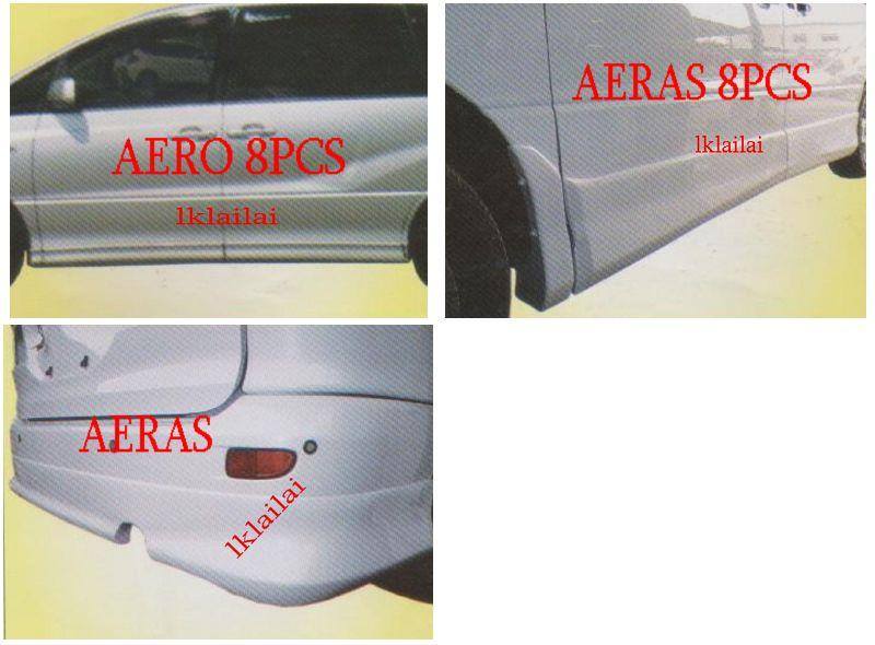 Toyota Estima ACR30 '00-05 Rear Skirt /Door Panel [AERAS/AERO] [FIBER]