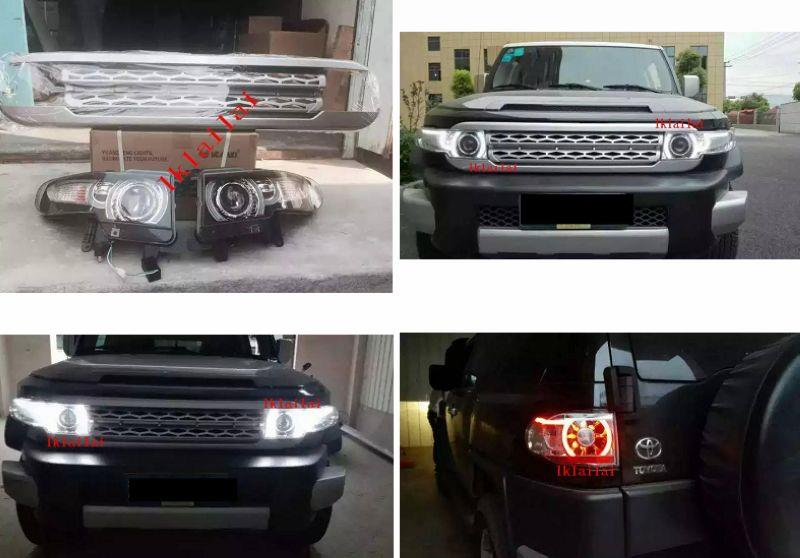 Toyota FJ Cruiser '08 Head Lamp + Tail Lamp + Front Grille Set