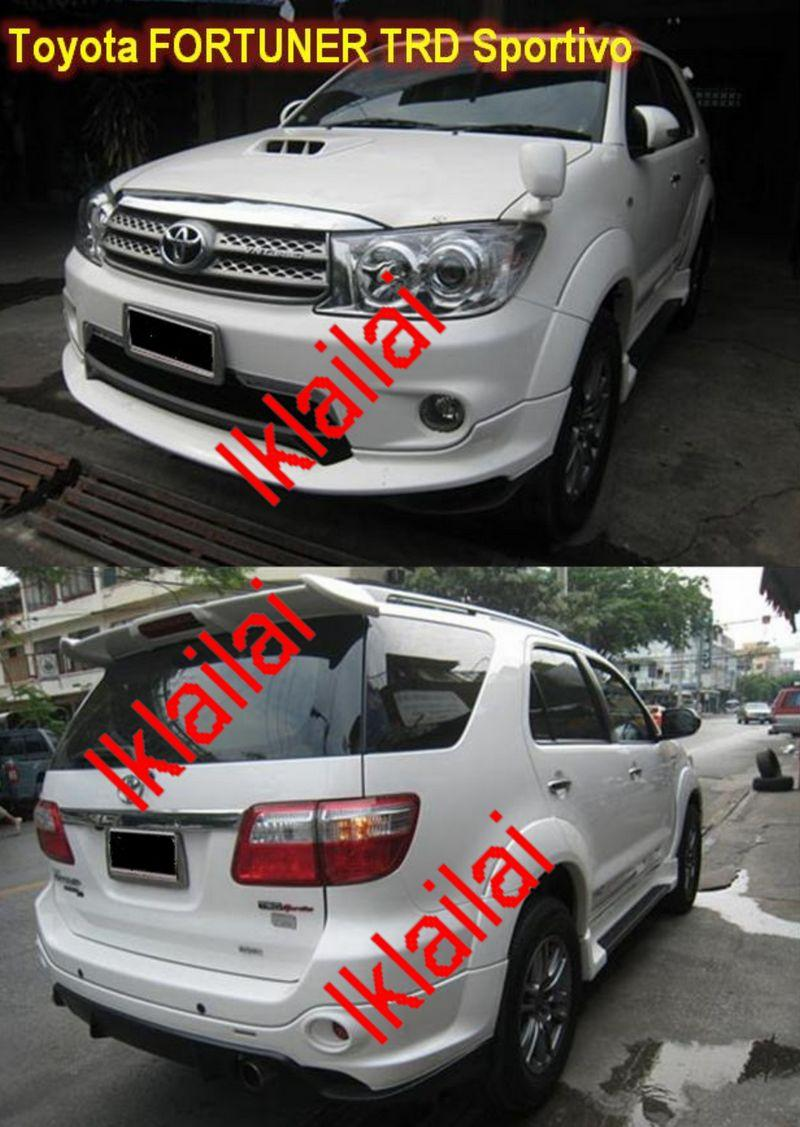 Toyota Fortuner '04 TRD Sportivo II Style Body Kit [Front & Rear Skirt