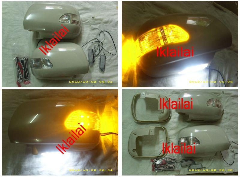 Toyota Harrier '03-09 RX330/RX350 LED Door/Side Mirror Cover + Footlla