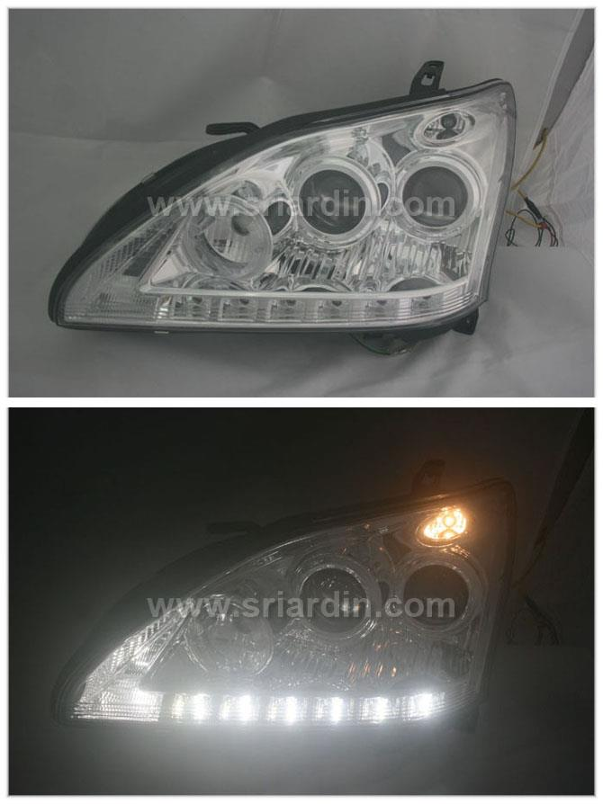 Toyota Harrier 05 Chrome Projector Headlamp w LED