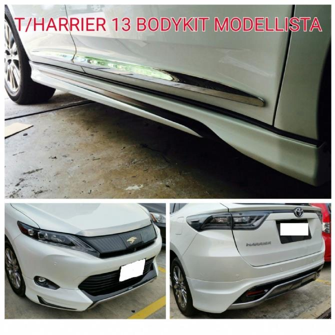 Toyota Harrier '13 Modellista Style Body Kit with Spoiler ABS Materia