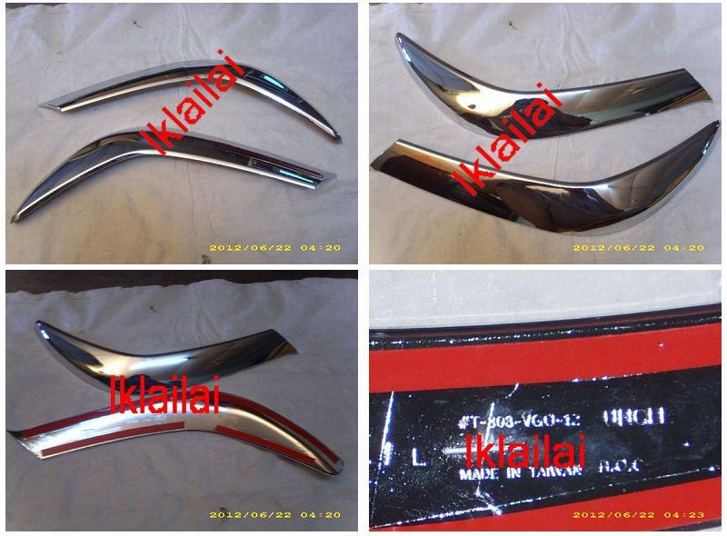 Toyota Hilux `12 Vigo Eye Lip Chrome ABS [TY44-EP01-U]