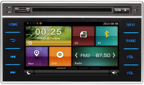"TOYOTA HILUX REVO FORTUNER 16 DYNAVIN 8"" Double Din GPS DVD TV Player"