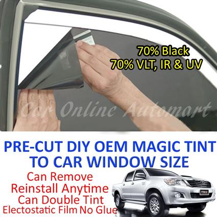 Toyota Hilux Vigo Magic Tinted Solar Window ( 4 Windows ) 70% Black