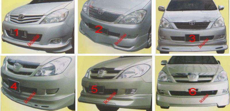 Toyota Innova '05/'08 Front Skirt [OEM/Gialla/Type B] PPU Material