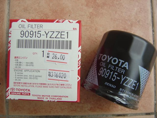 Here are recommended oils for 1KR-FE & 1NR-FE - toyota oil filter 90915 yzze1 small oil filter rm25 1110 19 PikabooFx@19