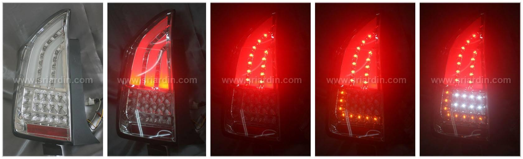 Toyota Prius 09-11 Clear Light Bar LED Tail Lamp