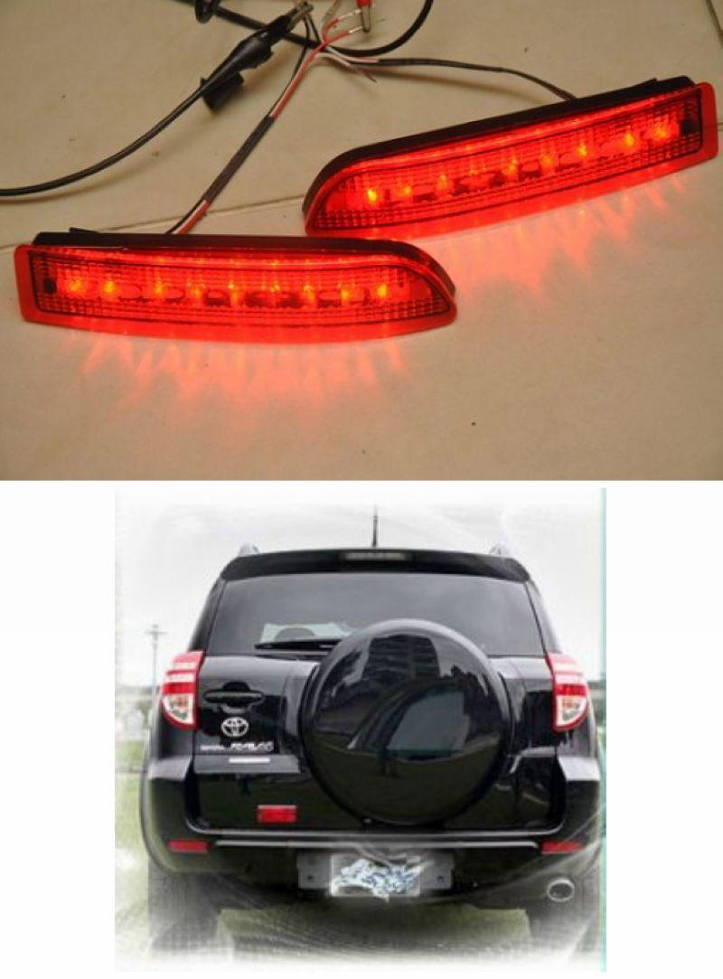 TOYOTA rav4 rav 4 Rear Bumper Reflector Light with LED [Red]