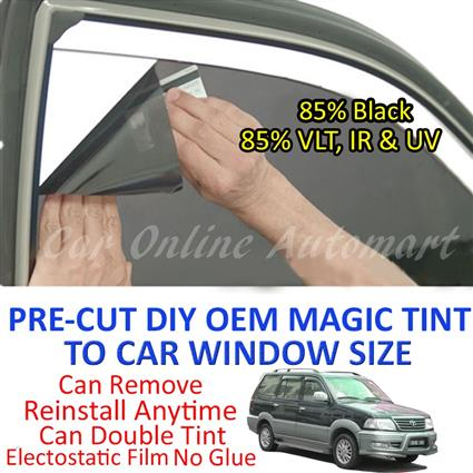Toyota Unser Magic Tinted Solar Window ( 6 Windows ) 85% Black