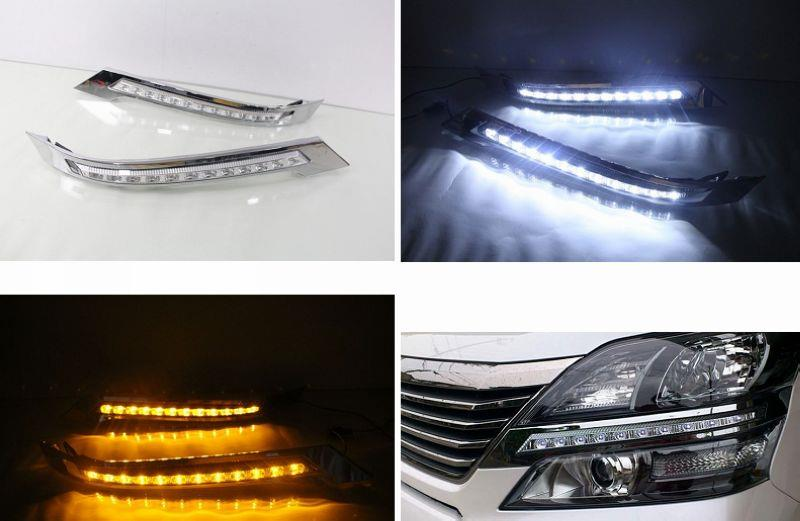 Toyota Vellfire 08-14 Head Lamp LED Daylight with Signal Function