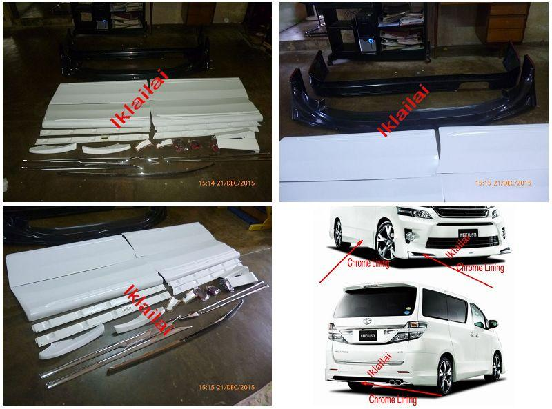 Toyota Vellfire '14-'15 VX Modellista Full Set Body Kit ABS w Chrome