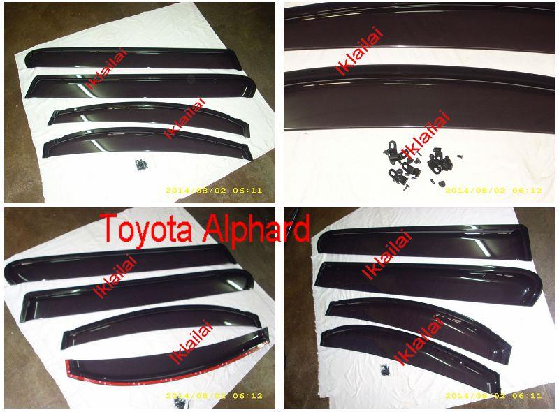 Toyota Vellfire / Alphard '08 OEM Injection Door Visor [4pcs/set]