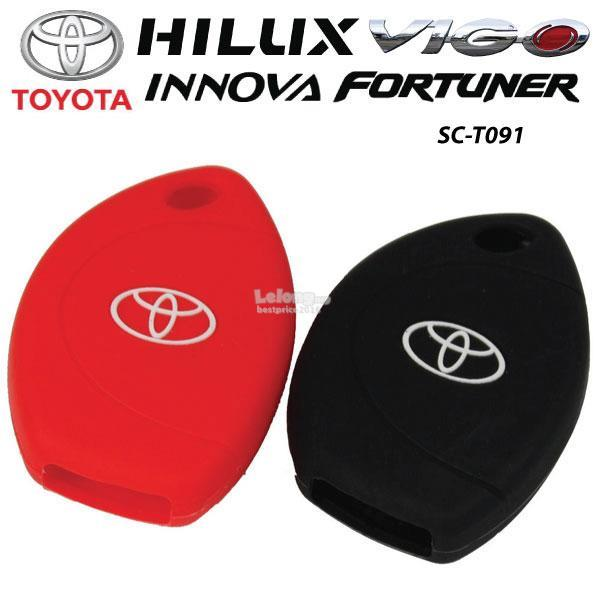 TOYOTA VIGO, HILUX, INNOVA, FORTUNE Silicone Car Key Cover Case 1 Unit