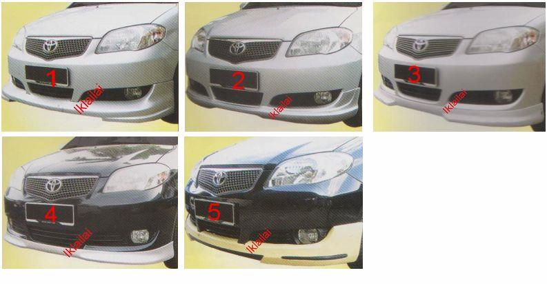 Toyota Vios '06 Front Skirt [Tom's / TRD / Type A / B / C ] PPU