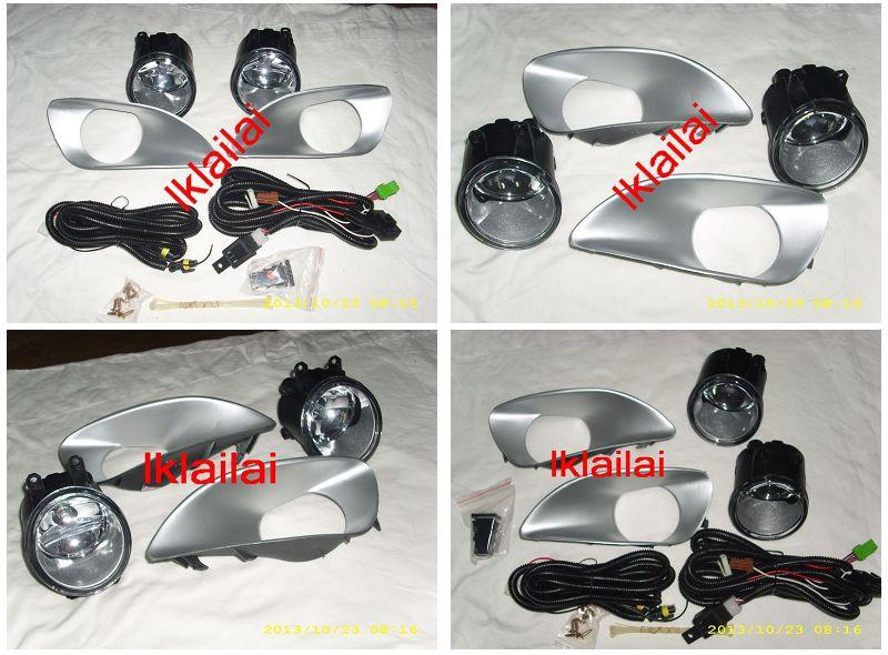 Toyota Vios '07-12 Fog Lamp Chrome Cover + Wiring & Switch