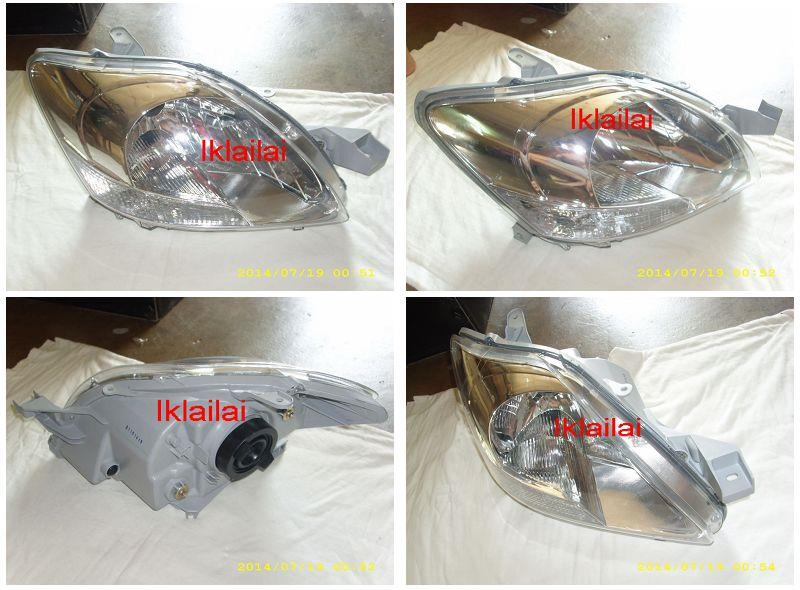 Toyota Vios 07 Crystal Head Lamp Chrome Housing 1-pair