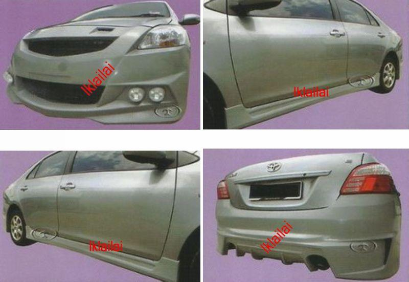Toyota Vios '07 Galaxy X Style Full Set Body Kit [Fiber Material]